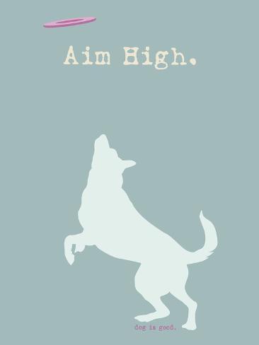 Aim High - Blue Version Plastikschild