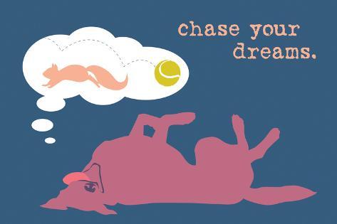Chase Dreams - Blue & Purple Version Plastikschild