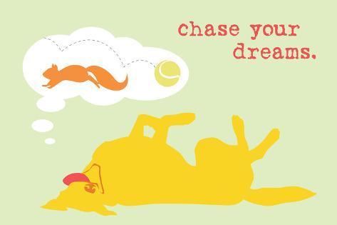 Chase Dreams - Green & Yellow Version Plastikschild