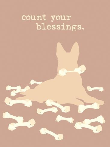 Count Blessings - Brown Version Plastikschild