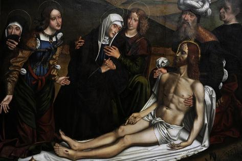 The Lamentation of Christ with a Donor, C.1505, by Domenico Panetti (1460-1530) Giclée-Druck