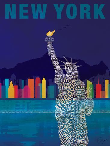 New York – Freiheitsstatue Kunstdruck