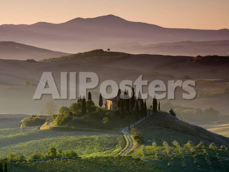 Bauernhaus, Val D\'Orcia, Toskana, Italien Fotografie-Druck von Doug ...