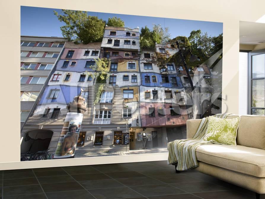 Hundertwasserhaus, Vienna, Austria Fototapete – groß von Doug ...