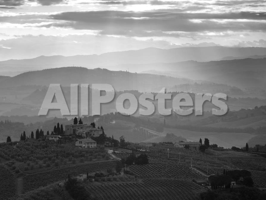 Landscape, San Gimignano, Tuscany, Italy Fotografie-Druck von Doug ...