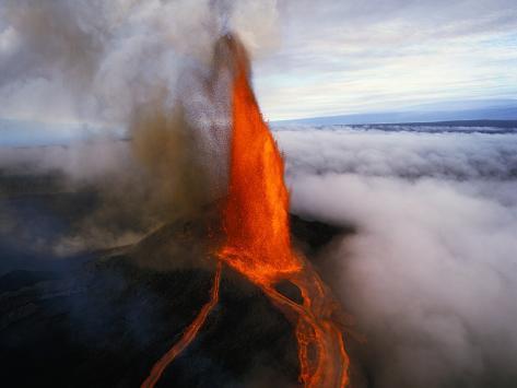 Kilauea Erupting Fotografie-Druck