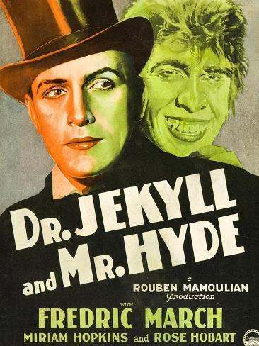 Dr. Jekyll and Mr. Hyde, Poster Art featuring Fredric March, 1931 Kunstdruck
