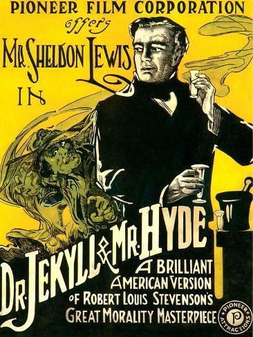 Dr. Jekyll & Mr. Hyde, Sheldon Lewis, 1920 Kunstdruck