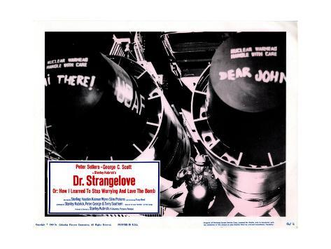 Dr. Strangelove, (aka Dr. Strangelove or: How I Learned to Stop Worrying and Love the Bomb), 1964 Giclée-Druck