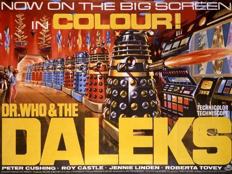 Dr Who and the Daleks Kunstdruck