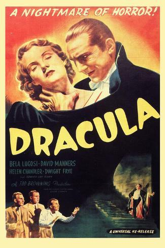 Dracula, Bela Lugosi, 1931, Plastic Sign Plastikschild