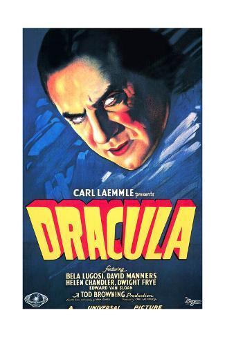 Dracula, Bela Lugosi, 1931 Giclée-Druck