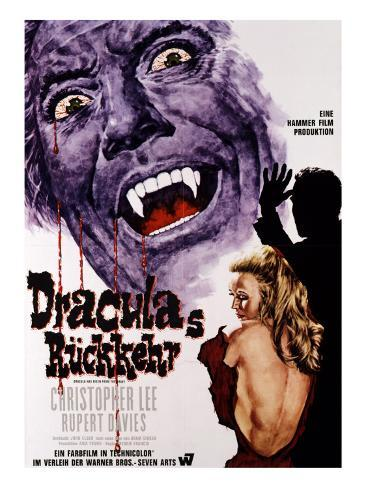 Dracula Has Risen from the Grave, Christopher Lee, Veronica Carlson, 1968 Foto