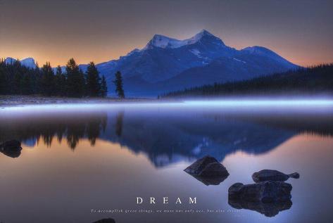 Dream - Mountains Landscape Poster