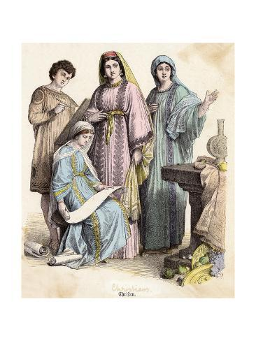 Dress, Early Christians Giclée-Druck