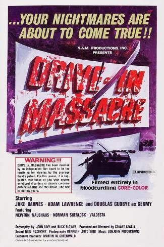 Drive-In Massacre, 1977 Kunstdruck