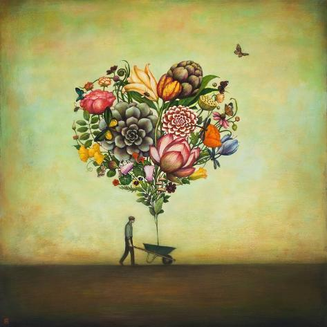 Big Heart Botany Kunstdruck