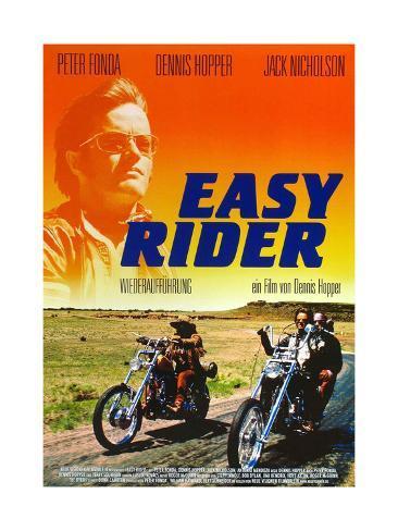 Easy Rider, Peter Fonda on German Poster Art, 1969 Giclée-Druck