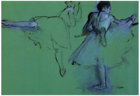 Edgar Degas Dancers at the Barre Art Print Poster Poster