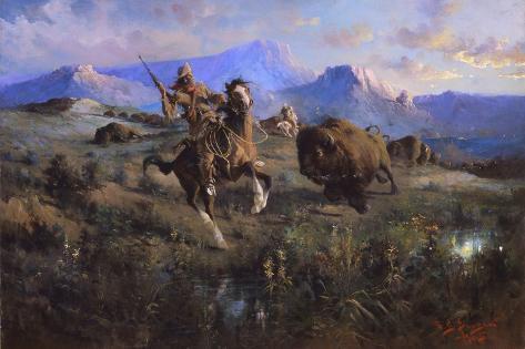 Buffalo Hunt Giclée-Druck
