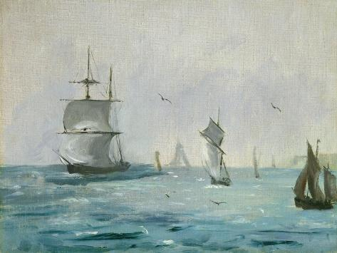 Fishing Boat Arriving, with the Wind Behind, 1864 Giclée-Druck