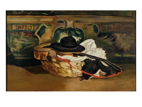 Still Life: Guitar and Sombrero, 1862 Giclée-Druck