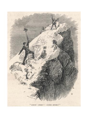 Matterhorn Climbed Giclée-Druck