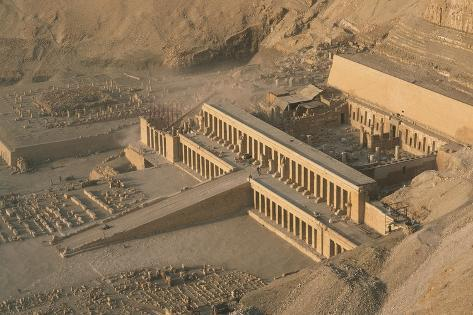 Egypt, Ancient Thebes, Dayr Al-Bahri, Valley of the Kings, Temple of Hatshepsut Giclée-Druck