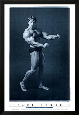 Eisen stemmen, Arnold Schwarzenegger, Englisch Laminiertes gerahmtes Poster