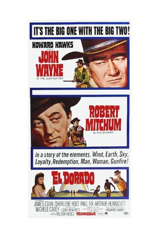 El Dorado, John Wayne, Robert Mitchum on Poster Art, 1966 Giclée-Druck