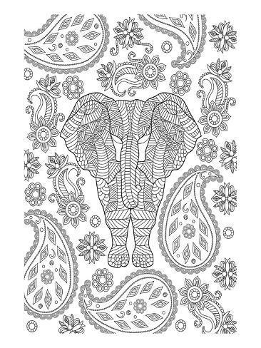 Elephane & Teardrop Coloring Art Wandtattoos zum Ausmalen
