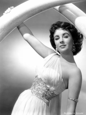 Elephant Walk, Elizabeth Taylor, in a Dress by Edith Head, 1954 Foto