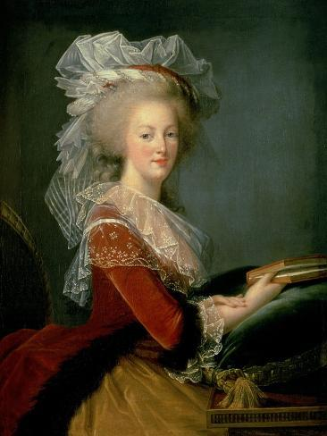 Portrait of Marie Antoinette (1755-93) Giclée-Druck