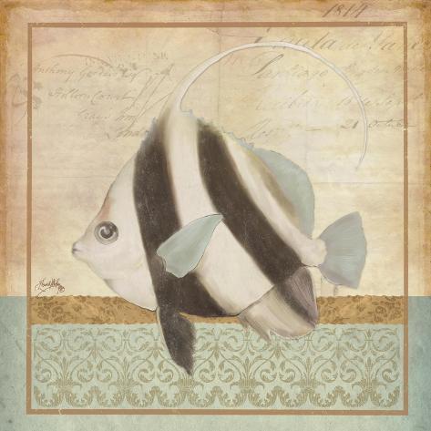 Vintage Fish I Giclée-Premiumdruck