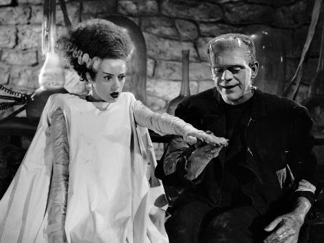 Elsa Lanchester, Boris Karloff, 1935 Fotografie-Druck