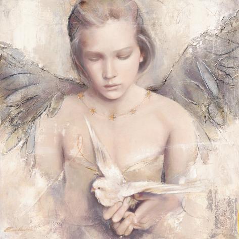 Träumender Engel Kunstdruck