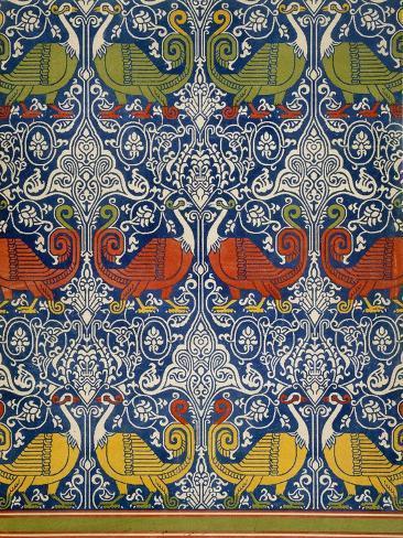 Example of Printed Egyptian Fabric, 19th Century (Chromolitho) Giclée-Druck