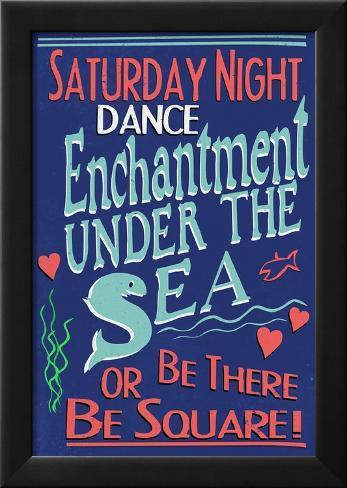 Enchantment Under The Sea Dance Movie Poster Laminiertes gerahmtes Poster