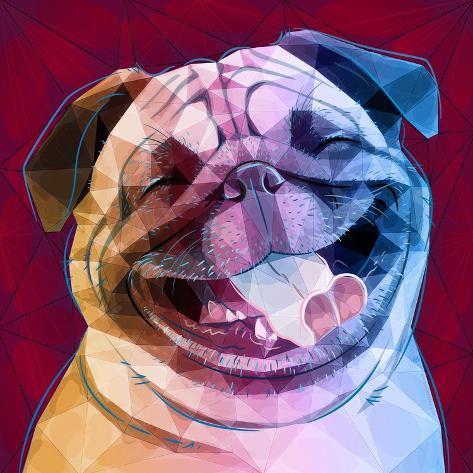 Laughing Dog Kunstdruck