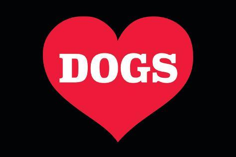 Heart (Love) Dogs Poster