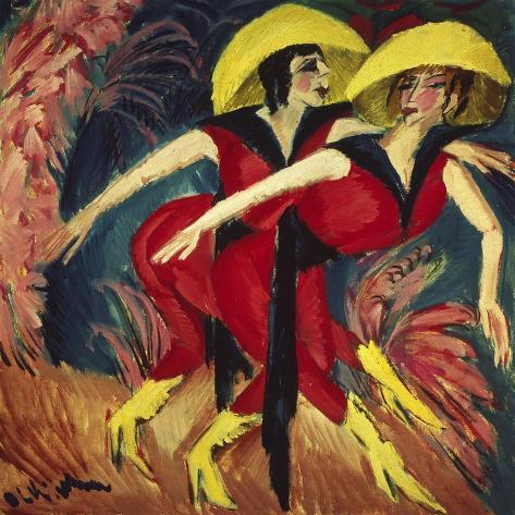 Dancers in Red, 1914 Giclée-Druck