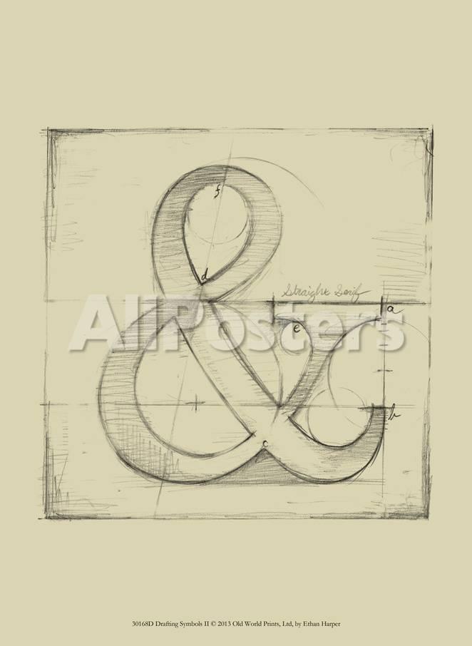 Drafting Symbols Ii Schilderijen Van Ethan Harper Bij Allposters