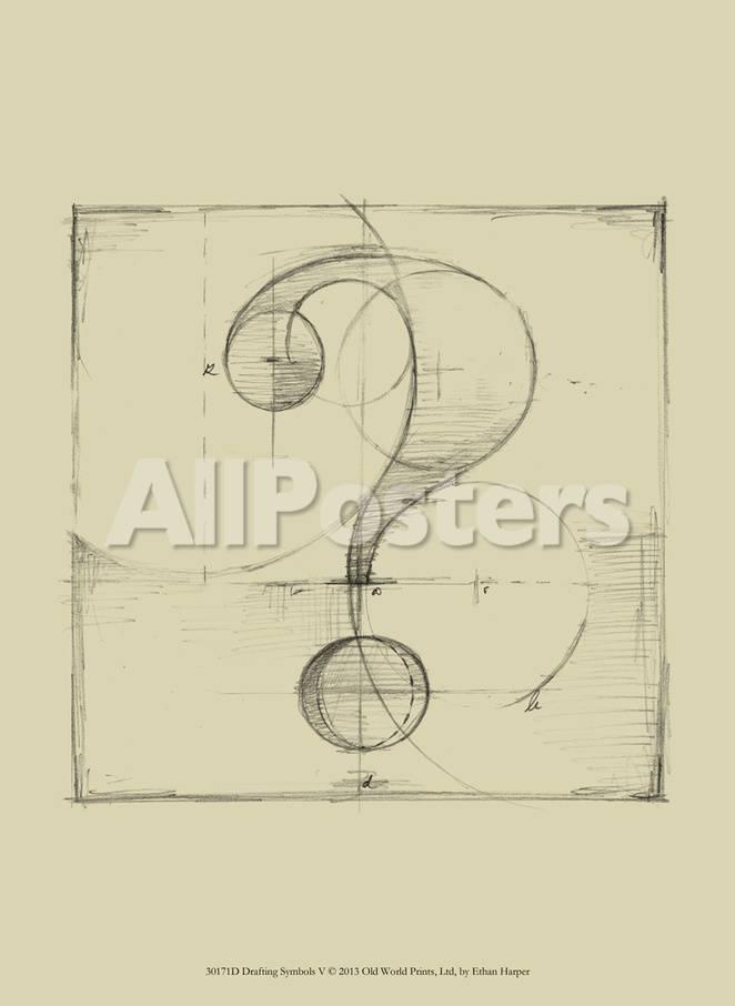 Drafting Symbols V Poster Van Ethan Harper Bij Allposters