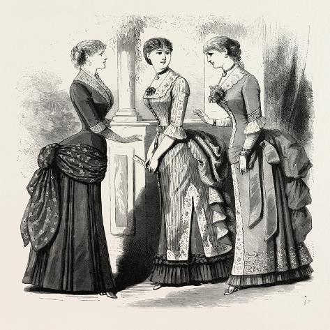 Evening Demi Toilettes, Fashion, 1882 Giclée-Druck