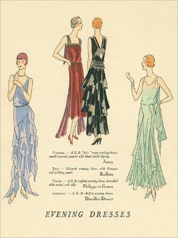 Evening Dresses Kunstdruck