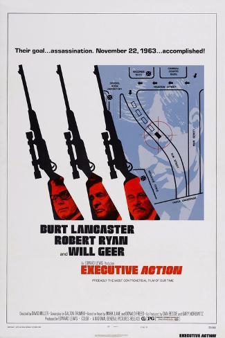 Executive Action, Burt Lancaster, Robert Ryan, Will Geer, 1973 Kunstdruck