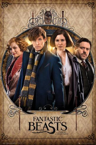 Fantastic Beasts- Group Frame Poster