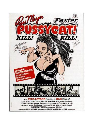 Faster, Pussycat! Kill! Kill!, French Poster Art, 1965 Giclée-Druck