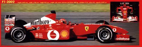 Ferrari, Formel 1, 2002 Poster