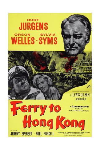 Ferry to Hong Kong Giclée-Druck
